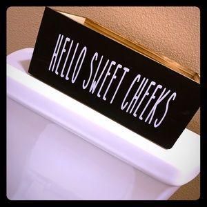 Hello Sweet Cheeks Toilet Paper Holder